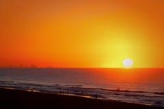 Ocean sunrise. Beautiful sunrise at Myrtle Beach, South California Stock Image