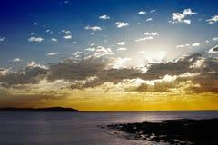 Ocean Sunrise. Clouds, Blue And Orange Sky, Sydney Coast, Australia, Background Royalty Free Stock Images