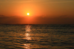 Ocean sunrise. (also can be taken for sunset Royalty Free Stock Images