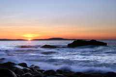 Ocean Sunrise. Sunrise over ocean at Acadia National Park Royalty Free Stock Images