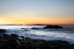 Ocean Sunrise. Sunrise over ocean at Acadia National Park Stock Photography