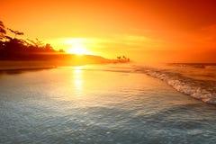 Ocean sunrise. Landscape ocean sunrise golden sky Royalty Free Stock Images