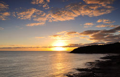 Ocean sunrise. Sunrise at Noosa on the Sunshine Coast, Queensland, Australia Stock Photos