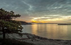 Ocean Sunrise in Acadia, Maine Stock Photos