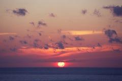Ocean Sunrise. Awesome Ocean Sunrise in Indonesia Stock Image