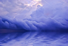 Ocean sunrise background image. Beautiful landscape of sky and water at Sunset Royalty Free Stock Photos