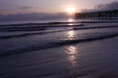 Ocean Sunrise. Beach in Daytona Stock Photos