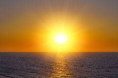 Ocean and sunrise. Fantastic sunrise on the ocean Royalty Free Stock Photography