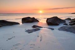 Ocean Sunrise Folly Beach South Carolina Royalty Free Stock Image