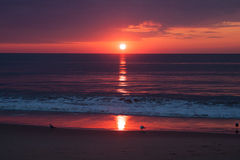 Ocean sunrise. Sunrise over the ocean in Virginia Beach Royalty Free Stock Image