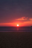 Ocean sunrise. Sunrise over the ocean in Virginia Beach Royalty Free Stock Photo