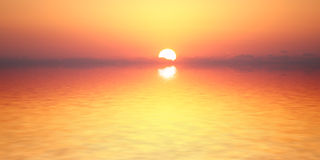 Ocean sunrise. Reflected at the water. Florida, Usa Stock Photos