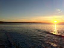 Ocean Sunrise in Santa Cruz royalty free stock image