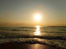 Ocean sunrise. The sun rising over the ocean on the east coast of SA Stock Image