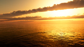 Ocean Sunrise Sunset Royalty Free Stock Photo