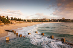 Ocean Sunrise Swimming Pool Bath at Coogee beach Royalty Free Stock Photos