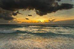 Ocean Sunrise. Sunrise on the ocean in the tropics Stock Images