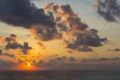 Ocean Sunrise. Sunrise on the ocean in the tropics Royalty Free Stock Images