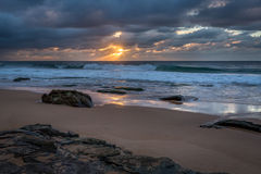 Ocean Sunrise. Warriewood Sydney Australia Stock Photography