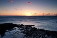 Ocean sunrise at wollongong. Beautiful sunrise over the ocean at wollongong Royalty Free Stock Images