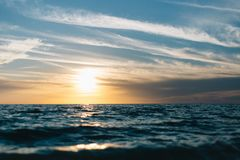 Ocean during Sunset royalty free stock photography