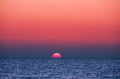 Ocean Sunset. Sunset colors over the ocean sea sunrise Royalty Free Stock Image
