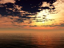 Ocean sunset Royalty Free Stock Photography