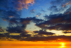 Ocean on sunset. Royalty Free Stock Photography