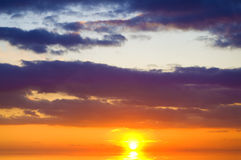 Ocean on sunset. royalty free stock photos