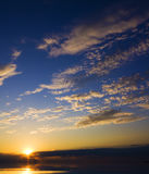 Ocean on sunset. stock image