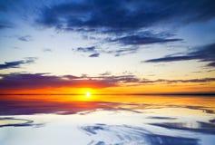 Ocean on sunset. stock photo