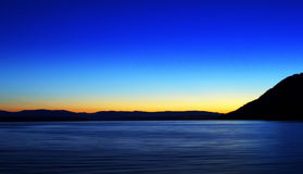 Ocean Sunset. Done by panning on a boat Royalty Free Stock Photography