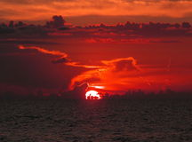 Ocean sunset. A spicy sunset Stock Photo