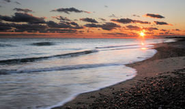 Ocean Sunset. Sunset and beach in Rhode Island Stock Photography