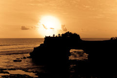 Ocean Sunset. Sunset in the ocean. Coastline Royalty Free Stock Photo