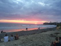 Ocean sunset. Beautiful ocean sunset Royalty Free Stock Photos