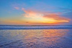 Ocean sunset. Beautiful Indian ocean sunset, Bali island, Indonesia royalty free stock photos
