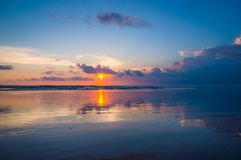 Ocean sunset Stock Photography