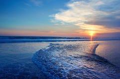 Ocean sunset. Beautiful Indian ocean sunset, Bali island, Indonesia Royalty Free Stock Photography
