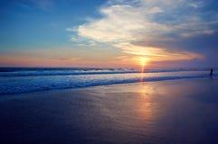 Ocean sunset. Beautiful Indian ocean sunset, Bali island, Indonesia stock photography