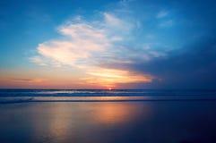Ocean sunset. Beautiful Indian ocean sunset, Bali island, Indonesia royalty free stock images