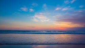 Ocean sunset. Beautiful Indian ocean sunset, Bali island, Indonesia royalty free stock photo