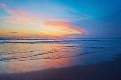 Ocean sunset. Beautiful Indian ocean sunset, Bali island, Indonesia Stock Photos