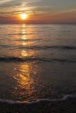 Sunset Higbee Beach New Jersey. Ocean at Sunset Higbee Beach New Jersey royalty free stock image