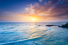 Ocean on sunset Royalty Free Stock Photo