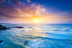 Ocean on sunset Royalty Free Stock Photography