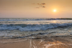 The ocean at sunset Royalty Free Stock Photo