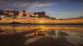 Ocean Sunset. Sunset over a calm sea Stock Photo