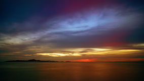 Ocean sunset. Sunset over the ocean. Shot near Bali Hai lighthouse, Pattaya, Thailand. Timelapse FullHD 1080p stock video
