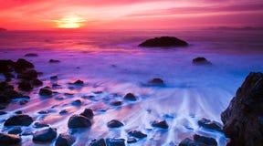 Ocean Sunset Panorama Royalty Free Stock Photos